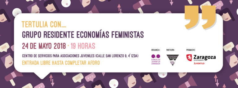 tertulia economías feministas consejo juventud zaragoza